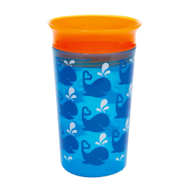 MUNCHKIN Miracle 360° Deco Sippy Cup, Blue Whale - 266ml