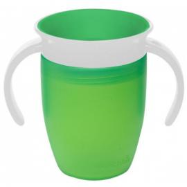 MUNCHKIN - Miracle 360° Cup Κύπελλο Εκπαιδευτικό με Λαβές, Πράσινο 207ml