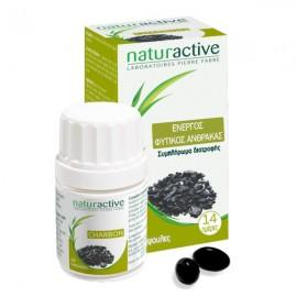 NATURACTIVE Charbon- Ενεργός Φυτικός Άνθρακας Συμβάλλει στην Σωστή Λειτουργία του  Πεπτικού Συστήματος 28 caps