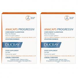 DUCRAY Anacaps Progressiv Συμπλήρωμα Διατροφής για τα Μαλλιά 2x30Caps -20%