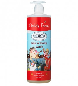 CHILDS FARM Hair & Body Wash, 2 σε 1 Σαμπουάν & Αφρόλουτρο Σώματος, Γλυκό Πορτοκάλι- 500ml