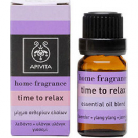 APIVITA Home Fragrance Time To Relax - Μίγμα Αιθερίων Ελαιών 10ml