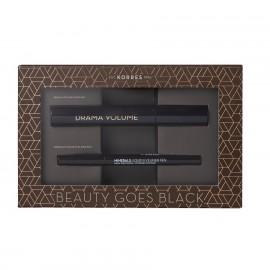 KORRES Σετ Μακιγιάζ, Drama Volume Maskara & Minerals Liquid Eyeliner Pen