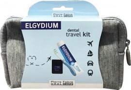 ELGYDIUM Dental Travel Kit Γκρι Νεσεσέρ με 3 τμχ.