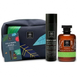 APIVITA  It' s a Man's World Set Men's Care Ενυδατικό After Shave 100ml & Tonic Mountain Tea Αφρόλουτρο 300ml