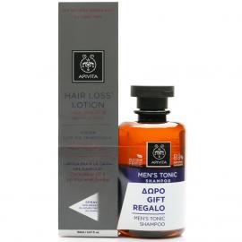 APIVITA Hair Loss Lotion - 150ml & Men's Tonic Σαμπουάν κατά της Τριχόπτωσης - 250ml