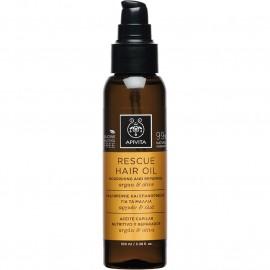 APIVITA Rescue Hair Oil - Λάδι Θρέψης & Επανόρθωσης Για Τα Μαλλιά Με Αργκάν & Ελιά 100ml