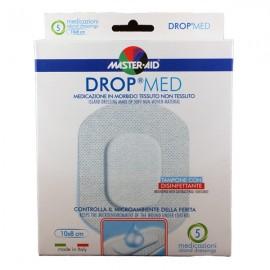 MASTER AID Drop Med Αντικολλητικές Aυτοκόλλητες Γάζες  10x8 5τμχ
