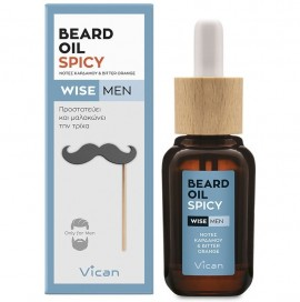 VICAN Wise Men Beard Oil, Spicy - 30ml
