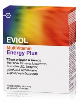 EVIOL Multivitamin Energy Plus 30 soft caps