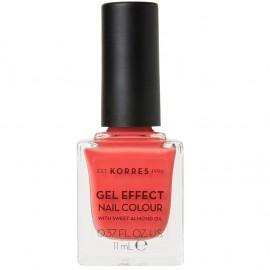 KORRES Gel Effect Nail Colour, 43 Peach Sorbet, Με Αμυγδαλέλαιο - 11ml