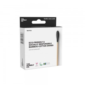 THE HUMBLE CO Bamboo Cotton Swabs, Μπατονέτες Μπαμπού Μαύρες - 100τμχ
