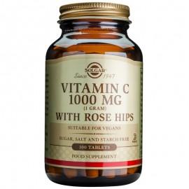 SOLGAR Vitamin C with Rose Hips 1000mg - 100tabs