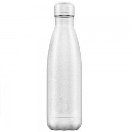 CHILLY'S BOTTLES Μπουκάλι- Θερμός, Glitter White - 500ml