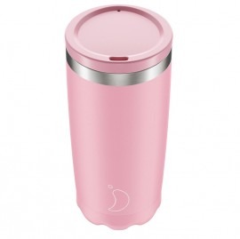 CHILLY'S BOTTLES Coffee Cup, Κούπα- Θερμός, Pastel Pink - 500gr