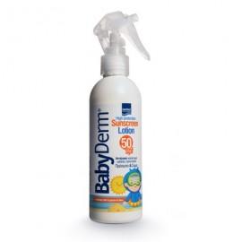 INTERMED BabyDerm Sunscreen Lotion SPF50, Παιδικό Αντιηλιακό Γαλάκτωμα για παιδιά από 6 Μηνών - 200ml