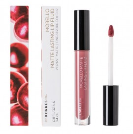 KORRES Morello Matte Lasting Lip Fluid, 10 Damask Rose - 3.4ml