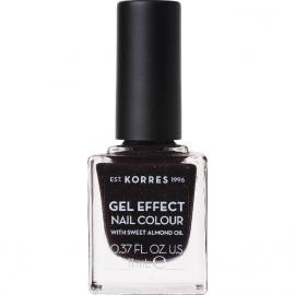 KORRES Gel Effect Nail Colour Βερνίκι Νυχιών No. 77 Sequins Plum 11ml