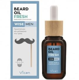 VICAN Wise Men Beard Oil, Fresh - 30ml