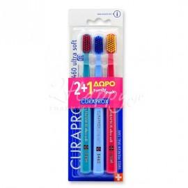 CURAPROX Ultra Soft 5460 Οδοντόβουρτσα Μαλακή 2+1 Δώρο