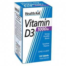 HEALTH AID Vitamin D3 1000iu - 120 ταμπλέτες