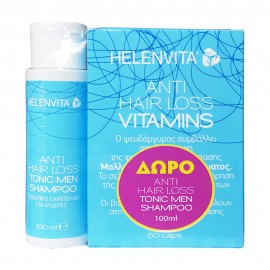 HELENVITA Anti Hair Loss Vitamins 60caps + Δώρο Anti Hair Loss Men Shampoo 100ml