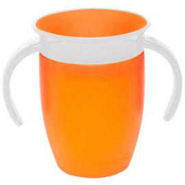 MUNCHKIN Miracle 360° Cup Κύπελλο Εκπαιδευτικό με Λαβές, Πορτοκαλί - 207ml