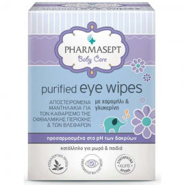 PHARMASEPT Purified Eye Wipes Αποστειρωμένα Μαντηλάκια για τα Μάτια 10pcs