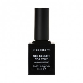 KORRES Gel Effect Βερνίκι Νυχιών Top Coat 11ml