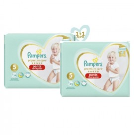 PAMPERS Premium Care Pants No 5 (12-17kg) - 34τμχ, 1+1 Δώρο