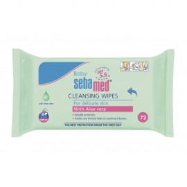 SEBAMED Baby Cleansing Wipes, Μωρομάντηλα με Αλόη - 72τμχ