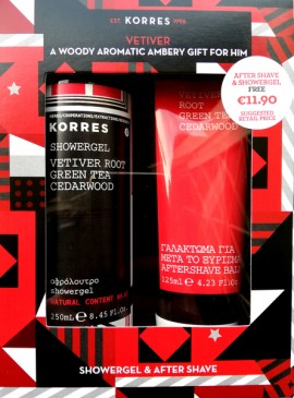 Korres Set Vetiver Root Green Tea και Cedarwood Αftershave Balm 125ml & ΔΩΡΟ Αφρόλουτρο 250ml