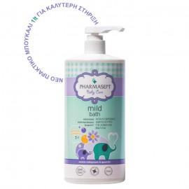 PHARMASEPT Baby Care Mild Bath Αφρόλουτρο για Σώμα και Μαλλιά -  Οικονομική Συσκευασία 1lt
