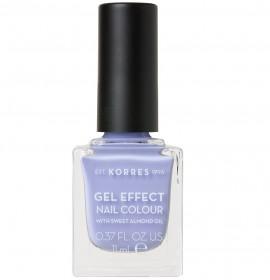 KORRES Gel Effect Nail Colour, 73 Lavender Purple, Με Αμυγδαλέλαιο - 11ml