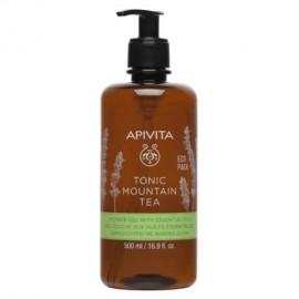 APIVITA Tonic Mountain Tea Body Shower Gel, Αφρόλουτρο με Τσάι του Βουνού - 500ml