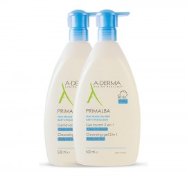 A-DERMA PROMO Primalba Gel Lavant Doucher 2x500ml Με 50% Στο 2ο Προϊόν