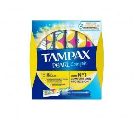 TAMPAX Pearl Compak Regular, Ταμπόν με Απλικατέρ - 16τμχ