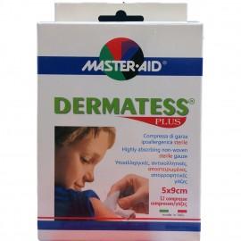 MASTER AID Dermatess Plus Γάζες 5x9cm 12τμχ