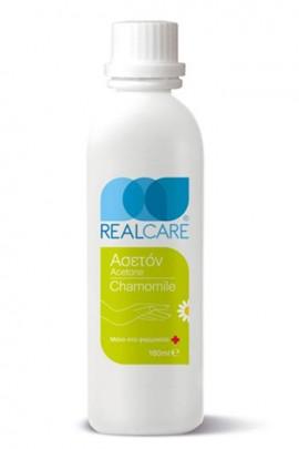 REAL CARE Chamomile Acetone Ασετόν για τα Νύχια με έλαιο Χαμομηλιού, 180ml