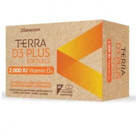 GENECOM Terra D3 Plus 2000IU - 60softgels