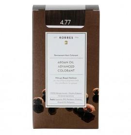 KORRES Βαφή Argan Oil 4.77 Καστανό Σκούρο Σοκολατί 50ml