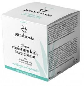 PANDROSIA 24ωρη Ενυδατική Κρέμα Προσώπου με Βιολογική Αλόη Βέρα - 50ml