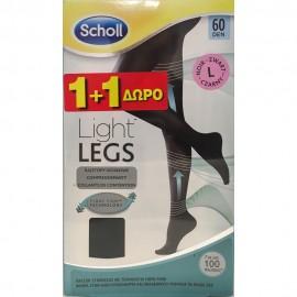 SCHOLL Light Legs Καλσόν 60Den Μαύρο Large 1+1 ΔΩΡΟ