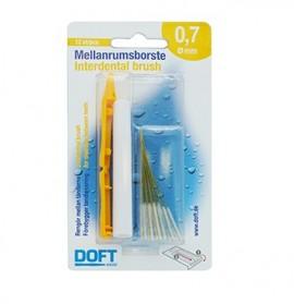 DOFT Interdental Brush, Μεσοδόντια Βουρτσάκια 0.7mm - 12τμχ