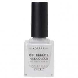 KORRES Gel Effect Nail Colour No.11 Coconut Smoothie Βερνίκι Νυχιών 11ml