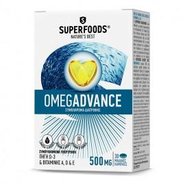 SUPERFOODS Omegadvance, Ιχθυέλαιο 500mg - 30καψ