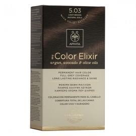 APIVITA My Color Elixir, Βαφή Μαλλιών No 5.03 - Καστανό Ανοιχτό Φυσικό Μελί