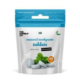 THE HUMBLE CO Natural Toothpaste Tablets, Οδοντόκρεμα σε Ταμπλέτες με Fluoride - 60τμχ