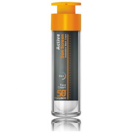 FREZYDERM Active Sun Screen Face Cream SPF50, Αντηλιακή Κρέμα Προσώπου - 50ml