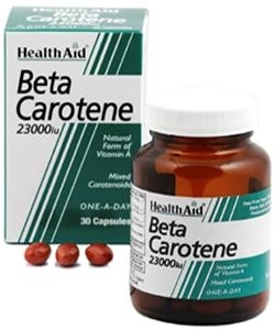 HEALTH AID BETA CAROTENE 15MG 30CAPS